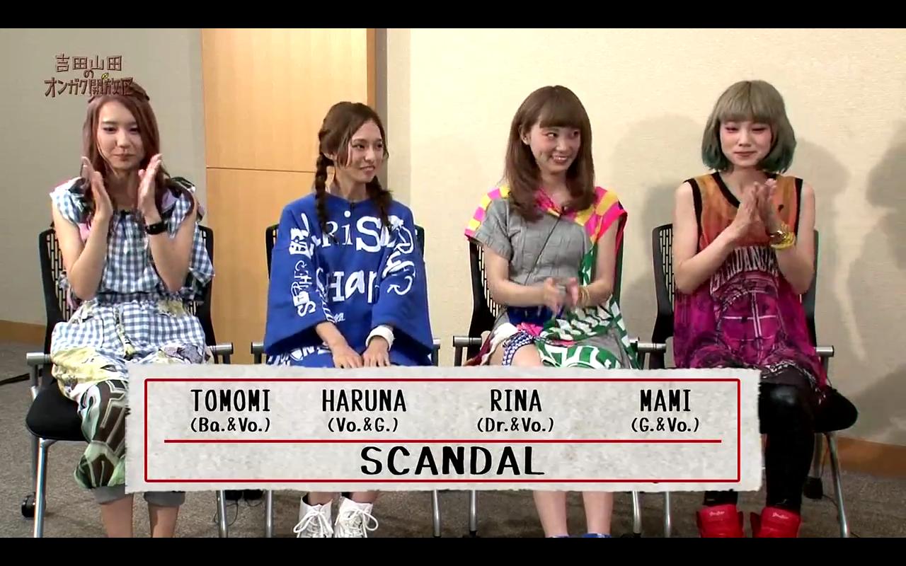SCANDAL on TVK 'Yoshida Yamada no Ongaku Kaihouku' (MAMI Part)