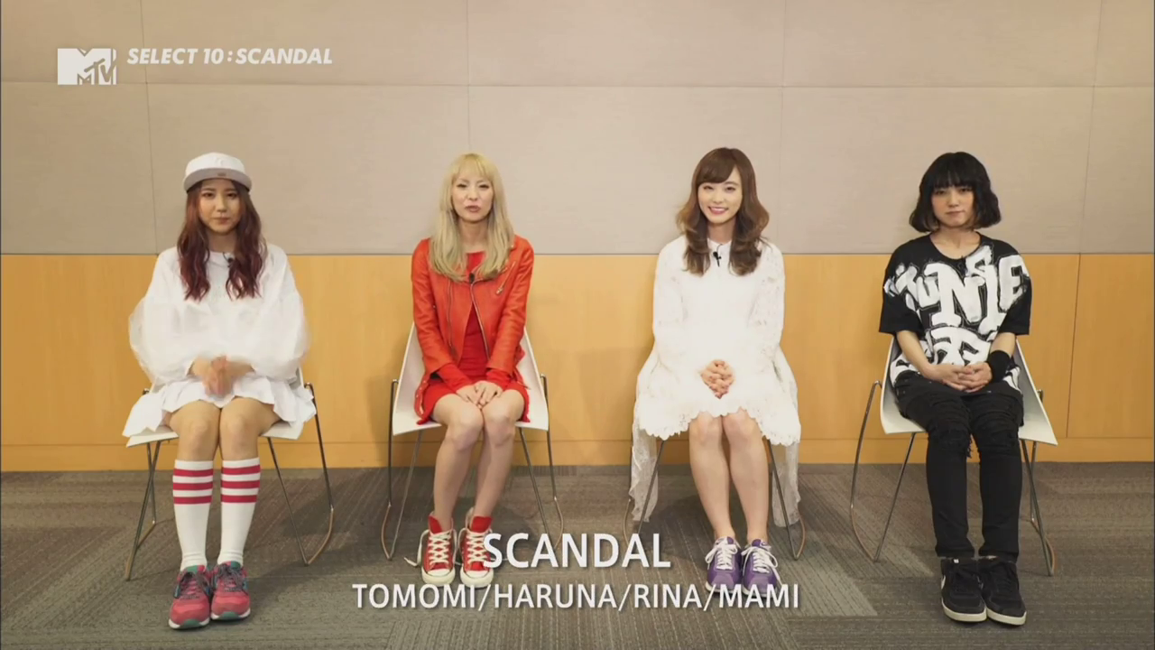 SCANDAL dans l'émission Select 10 sur MTV Japan