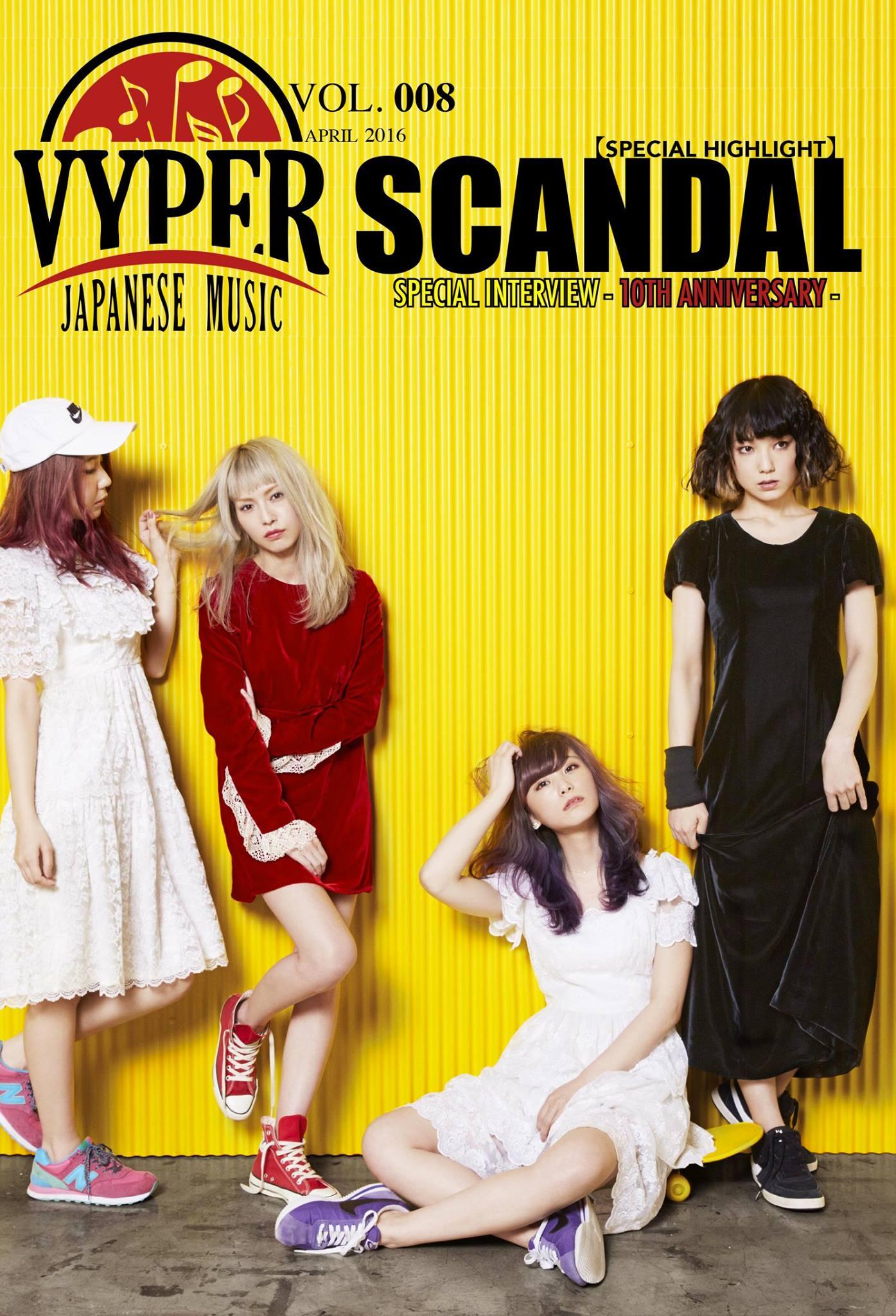 SCANDAL dans le prochain VYPER Japanese Music